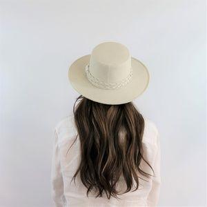 The Palm Springs White Gambler Hat